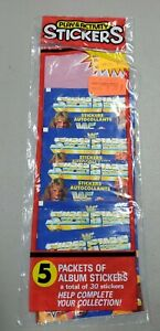 1991 Diamond  WWF Wrestling Stickers Factory Sealed with 5 Packs 30 Stickers #5