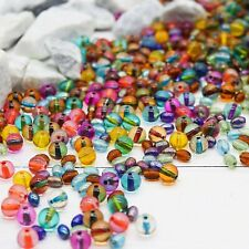 50 Dichroic Glass Beads 8mm Assorted Lot Mixed Colors Bulk Jewelry Supplies Mix