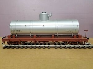 Accucraft AMS 1:20.3    TANK CAR      AM2208-01 Data Only SILVER  F-scale