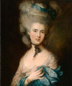 Dream-art Oil painting thomas gainsborough - portrait of a lady in blue canvas