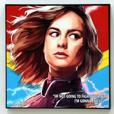 Captain Marvel ❤️ Pop Art canvas quote wall decals poster photo painting