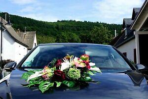 Auto Schmuck Blumen Braut Paar Dekoration Autoschmuck Rosen Hochzeit Deko