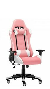 JlComfurni Classic Pink  Gaming Chair/Computer Chairs/ Swivel Leather Desk