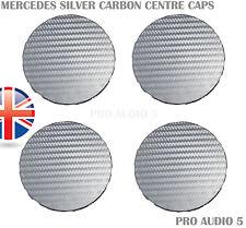 4x CARBONE fibra arg Ruota Centro Tappi 75mm MERCEDES C, E, S, G, M, CLASSE UK