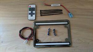 LED brake strobe license frame- Gunmetal chrome