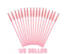 50x Pro Pink Mascara Wands Lash Extension Applicator Disposable Eyelash Brushes