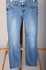 Aeropostale Chelsea Boot Cut Curvy Distressed Blue Jeans Women's Size 5/6 Short