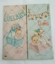 Vintage 1953 Lullaby Cut-Out Paper Dolls + Accessories, Whitman Fold Out Folder