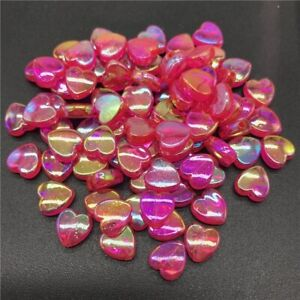 100pcs Acrylic Bead Spacer Heart/Star shaped 8mm 11x4mm Beads Jewelry Making DIY