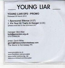 (CZ343) Young Liar, Young Liar EP2 - 2012 DJ CD