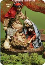 NATIVITA' PRESEPE SACRA FAMIGLIA DIPINTA A MANO Cm 24x21 THE HOLY SACRED FAMILY
