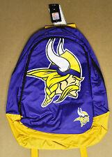 Minnesota Vikings BackPack / Back Pack Book Bag NEW - TEAM COLORS BIG LOGO