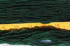 11/0 Transparent Deep Green Czech Glass Seed Beads Jewelry Crafts Making/ Hank