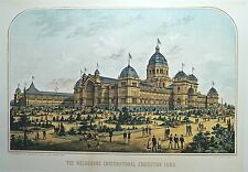 Reproduction of 1880 Melbourne Exhibition Building print - large
