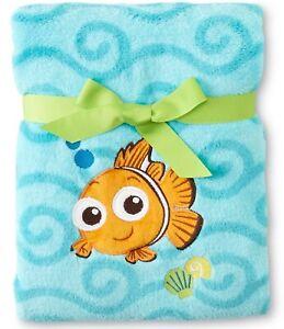 Finding Nemo Fleece Plush Blanket by Disney Baby- Blue