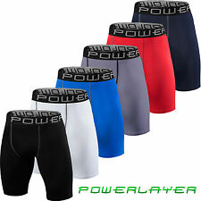 PowerLayer Mens & Boys Body Armour Compression Base Layer Thermal Under Shorts