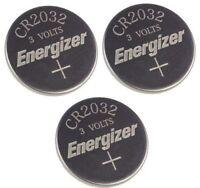3 x  PC ENERGIZER CR2032 WATCH BATTERIES 3V LITHIUM CR 2032 DL2032 BR2032