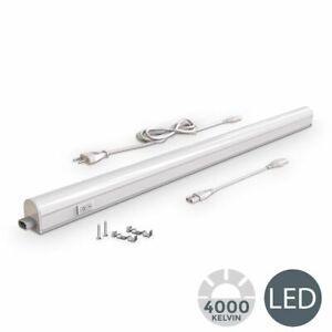 Réglette LED 230V luminaire sous meuble cuisine atelier 15W lampe à vasque 4000K