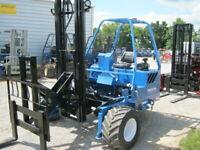 Princeton D50 Double Reach Piggyback Forklift Truck Mounted 12' Mast Moffett