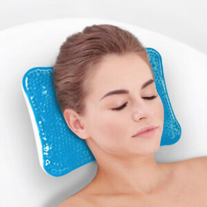 Relaxation Bath Pillow with Gel - For Calming & Easing Compress Blue or White