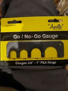 """Apollo"" ~ Go/No-Go Gauge Tool, 69PTKGONO - 3/8""-1"" PEX Rings -Plumbing Conbraco"