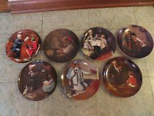 7 Norman Rockwell Collector Plates by Knowles