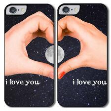 """Cover di coppia per iPhone 4, 4S, 5, 5S, 5C, 6, 6 plus """"Twilight Love"""" lui e lei"""