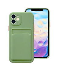 For iPhone 12 Pro Max Shockproof Card Slot Tpu Case Cover