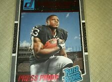 DeAndre Washington RC Red Press Proof 2016 Donruss Rated Rookie Raiders Mint