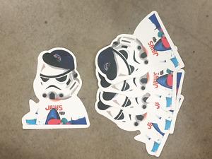 Storm Trooper fan boy Style sticker pack x 5, Star Wars Hollywood