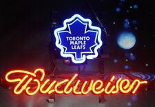 "New NHL Toronto Maple Leafs Budweiser Bar Neon Light Sign 17""x14"""