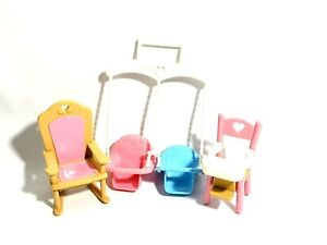 Loving Family Dollhouse Highchair Rocker Baby Swing replacement Parts 1993 Pink