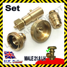 LPG Propane Bottle calor refill adaptor m21.8 LH gas autogas butane EU SET of 4