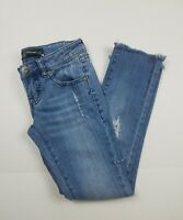 Volcom Liberated Distressed Light Wash Skinny Jeans Womens /Juniors Size 00