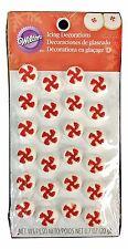 1X Set Wilton Pinwheel Red & White Icing Decorations Cake Cupcake Candy Cookies