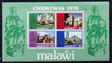 36366) MALAWI 1978 MNH** Christmas, churches s/s