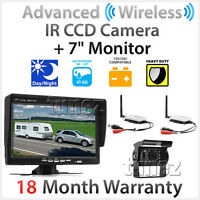 "7"" Monitor 4PIN CCD 24V Reversing Camera Digital Wireless Receiver Transmitter"