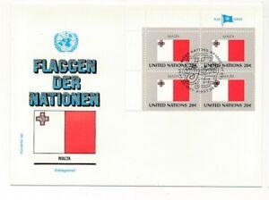 D112762 Flag Series Malta FDC United Nations New York Bureau
