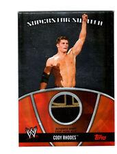 WWE Cody Rhodes 2010 Topps Superstar Swatch Event Worn Memorabilia Card B&G