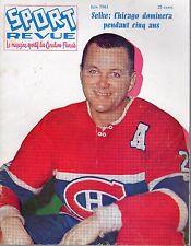 1961 (June) Sport Revue, Hockey magazine, Doug Harvey, Montreal Canadiens ~ Fair