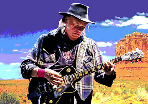 NEIL YOUNG A3 SIZE ART POSTER PRINT LIMITED EDITION