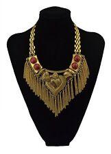 Beautiful  Bohemian Choker Red Bead Chain Heart Necklace Free Shipping