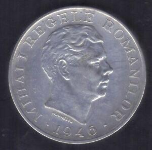 1946 ROMANIA 100000 LEI MIHAI I 700 SILVER COIN KM 71