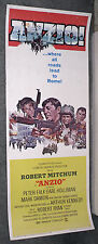 ANZIO original 1968 WW2 14x36 insert movie poster ROBERT MITCHUM/PETER FALK
