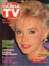 rivista NUOVA GUIDA TV ANNO 1984 NUMERO 43 MARIA GIOVANNA ELMI