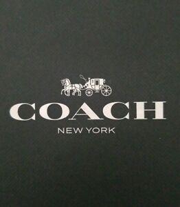 New Coach Ferry Wedge Sig Jacquard Monogram Khaki Chestnut Shoes Size 8M or 38.5