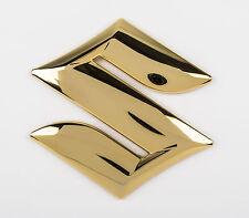 """Genuine Suzuki Swift 2005 Front Grille """"S"""" Gold Emblem Badge  99000-99097-S04"""