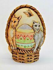 Harmony Kingdom Art Neil Eyre Designs kitty cat Easter basket panoramic egg Le