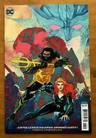 Justice League Aquaman Drowned Earth 1 2018 Francis Manapul Variant DC Comics NM