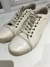 Well Used Designer Alexander Mcqueen Puma Sneakers Trainers Uk10 Cream